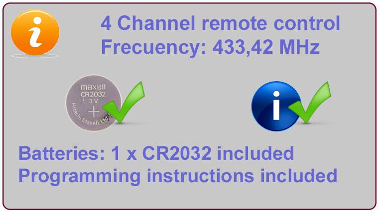 Gate remote Info