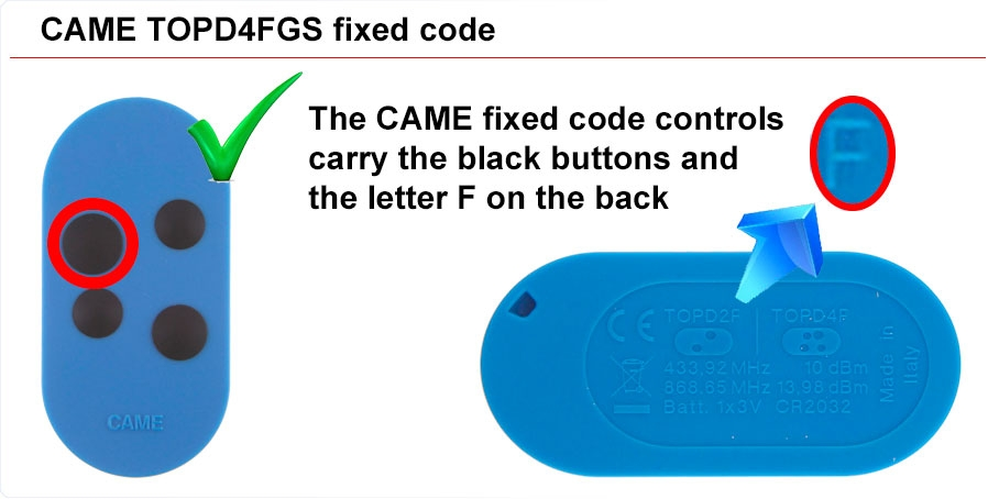 CAME fixed code
