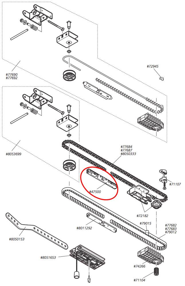 Connection set chain MARANTEC